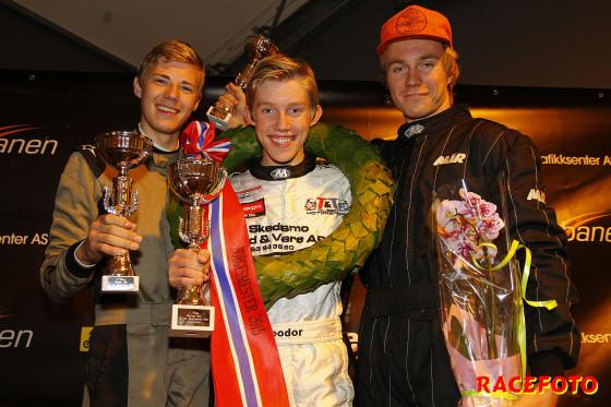 NM-pallen Formula Basic. Fr v. Lars Solheim, Theodor Olsen och Dennis Moen.